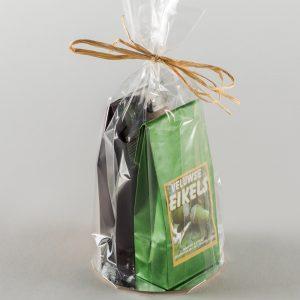 Combinatie chocolade eikels/varkenskeutels