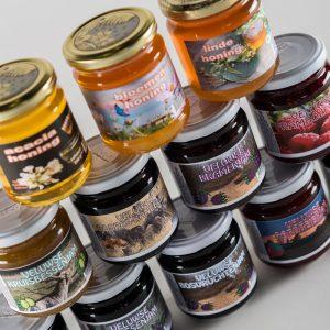 Ambachtelijke jam, honing en appelstroop
