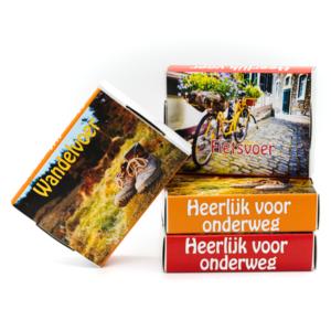 Doosje pepermunt (fietsvoer, wandelvoer)